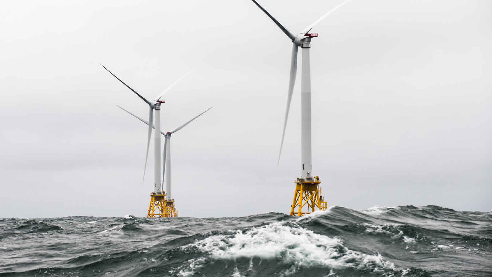 <h4>America's First Offshore Wind Farm</h4><h5>Block Island (R.I.) Wind Farm, Dec. 2016</h5><em>U.S. Dept of Energy Photo</em>